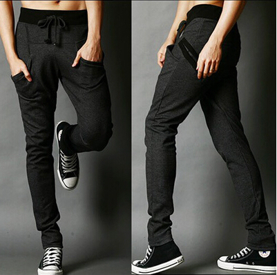 New 2016 spring men's fashion haroun pants leisure cotton Casual long trousers and Male hip-hop dance pants
