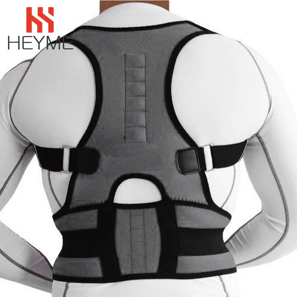 HEYME Neoprene Magnetic Posture Corrector Voltar Corset Espinha Cinto Brace Straightener Ombro Para Trás Suporte Belt para Mulheres Dos Homens UM