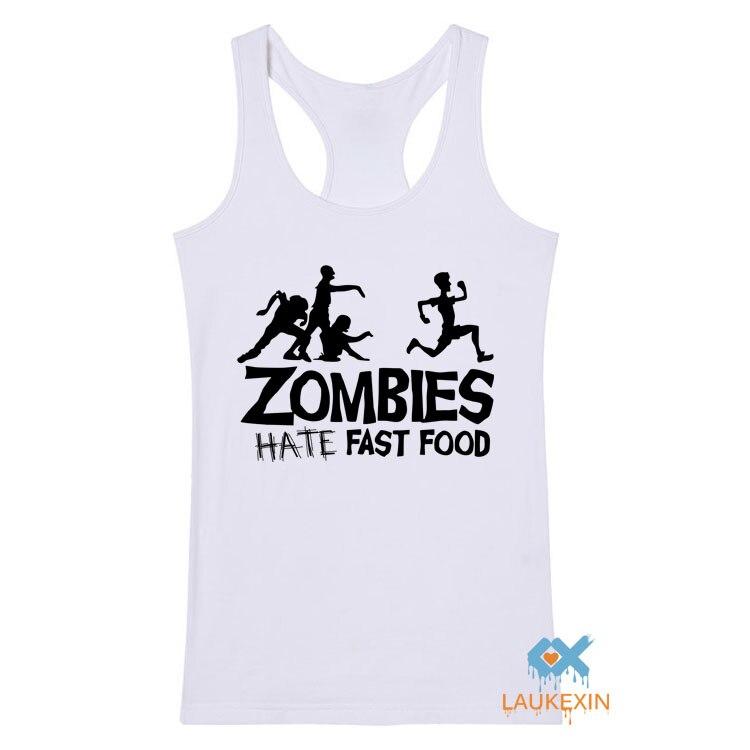 Donne di estate Canotte Zombies Divertente Slogan Top Tees Divertente Swag Senza Maniche Bodybuilding traverse Maglia Uomini Donne Stampa ragazza Top