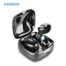 AERBOS Bluetooth 5.0 Wireless Earphones Stereo Handsfree Earbuds Hifi Sound Sport Ear buds Gaming Headset With Mic For iPhone getihu mini twins bluetooth sport earphones stereo headphones in ear buds wireless earbuds handsfree headset for iphone samsung