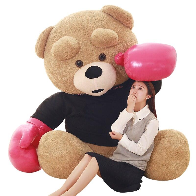 1 шт., 240 см, Kawaii Spuer, большой размер, боевой медведь, мягкие плюшевые игрушки, детские игрушки, огромное плюшевое животное, куклы, хорошее качество, подарки - 2
