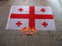 Национальный флаг Джорджии, 100% полиэстер, 120*180 см, анти-УФ, цифровая печать, флаг король, страна Джорджии баннер