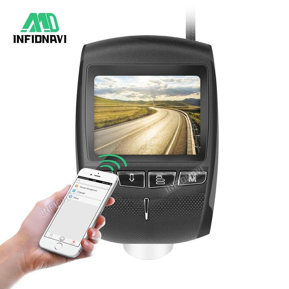 Infidnavi Video-Recorder Car-Camera G-Sensor Wifi Night-Vision Hidden 170-Degree FHD