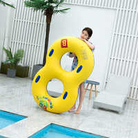 Swimming Pool 8 Lounge Chair Pool Float Water Inflatable Cricle with Handle Air Mattresses Toys
