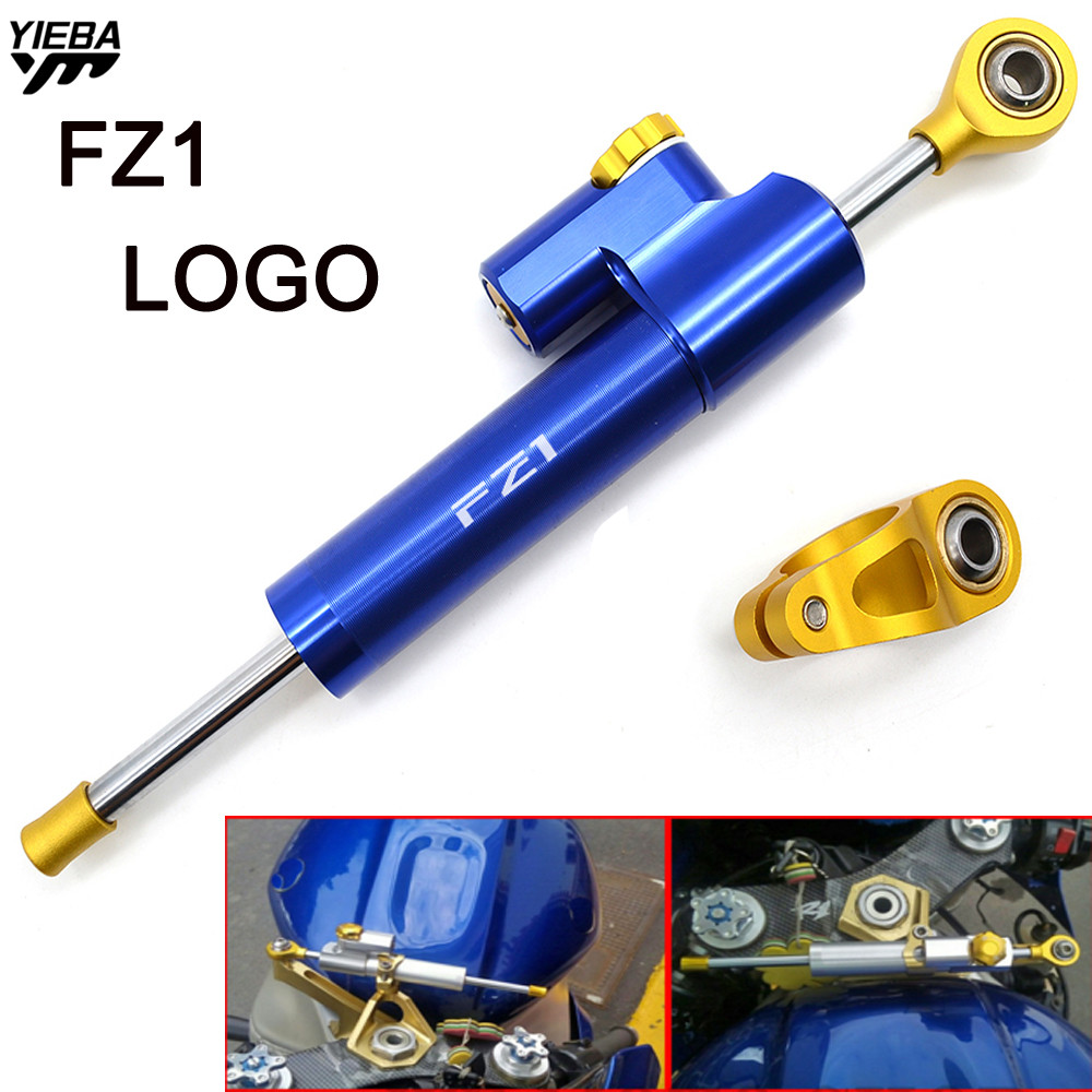 CNC Universal Aluminum Motorcycle Damper Steering Stabilize Safety Control For YAMAHA FZ1 FZ 1 FZ-1 FZ1 FAZER With FZ1 LOGO все цены