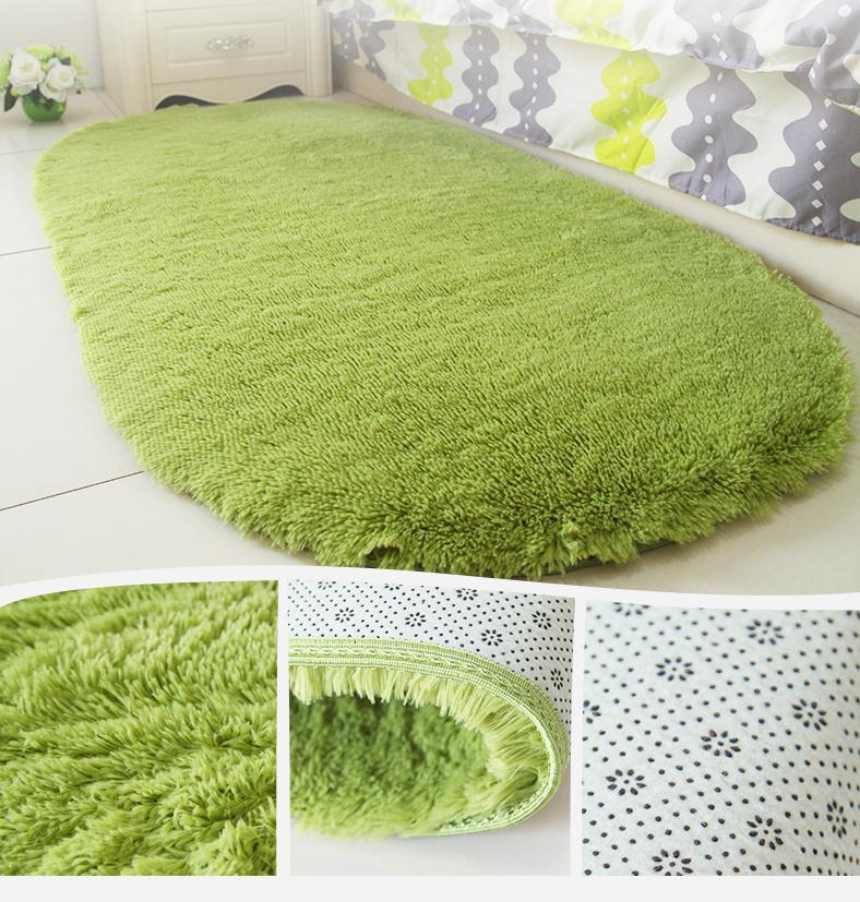 Green-zoon Anti-Skid Fluffy Shaggy Area Rug Home Room Carpet Floor Mats Bedroom Bathroom Floor Door Mat Shag Rugs