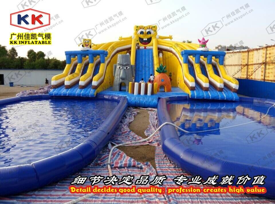 Открытый Гигантский Прочный надувной аквапарк для детей и взрослых на продажу