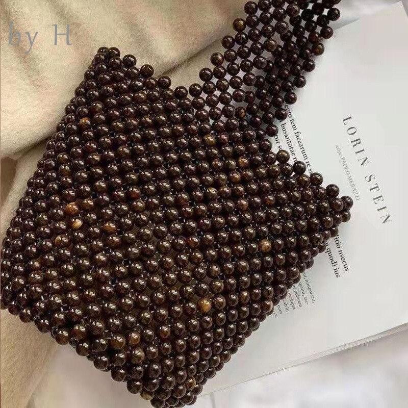 Par H 2019 nouveau gris violet perlé Caviar seau bandoulière sac fourre-tout sac à main femmes mini perlée seau sac femme alicry sac à main