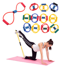 2Pc Resistance Bands sport Yoga Pilates Abs Exercise Stretch Fitness Tube Workout Bands