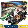281 шт. Бела 10227 DC Comics Бэтмен Riddler Чейз Flash Super Heroes DIY Строительных Блоков, которые Поддерживаются с Lego