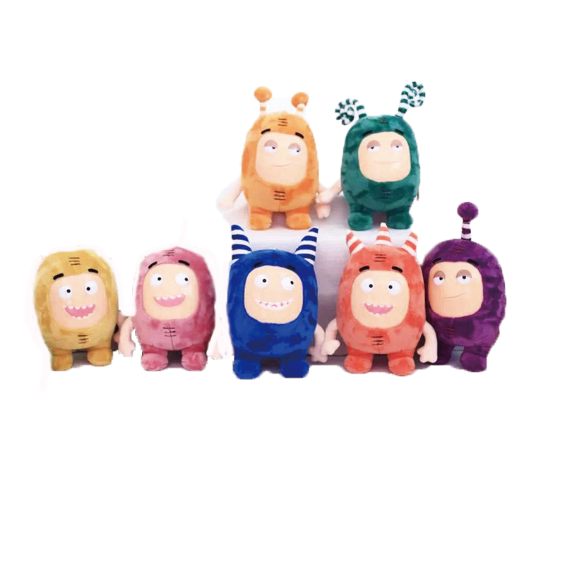 Skyleshie 7pcs Lot 23CM Strange Treasure Of Soldiers Plush Doll Oddbods Monster Stuffed Doll Birthday Gifts