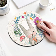 Beautiful Computer Mouse Padding Rubber thickening Cartoon round animal cat dinosaur mouse pad 20CM for MacBook xiaomi Lenovo(China)