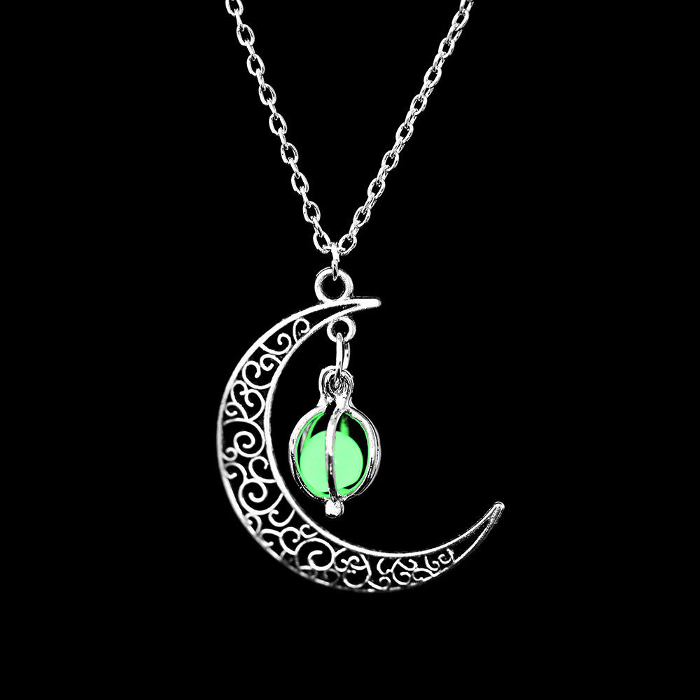 Vienkim Neo-Gothic Luminous Pendant Necklace Women Charm Moon In The Dark Glowing Stone Necklaces For Jewelry Christmas Gifts 12