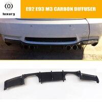 M3 Carbon Fiber Rear Bumper Lip Diffuser Spoiler for BMW E92 M3 Coupe E93 M3 Convertible 2006 2012 (Can't fit E90 M3)