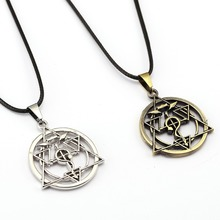 10/pcs Fullmetal Alchemist Choker Necklace Homunculus Circle Pendant Men Women Gift Anime Jewelry Accessories YS11895