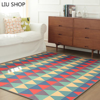 Simple Korean Geometric Triangle Blanket Covered With Carpet In The Living Room Bedroom Windows Table Wear