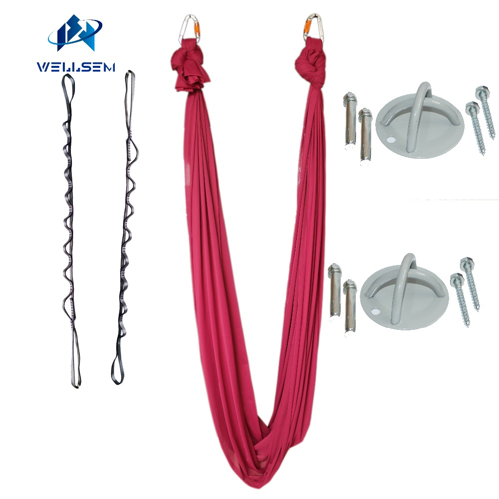 2016 NEW Arrival Aerial Flying Anti-gravity Yoga Hammock Swing Yoga body building workout fitness equipment freedrop fitness padded gravity boots safety locking mechanism ankle hooks abdominal workout training hang up ab gym equipment
