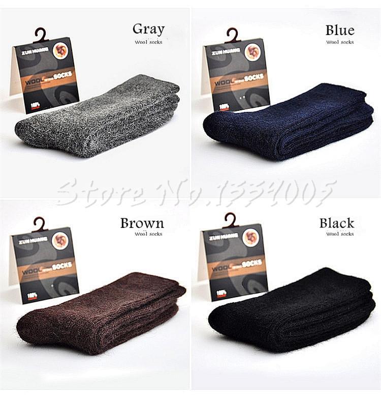 3x Men's Merino Wool Socks Warm Winter 30