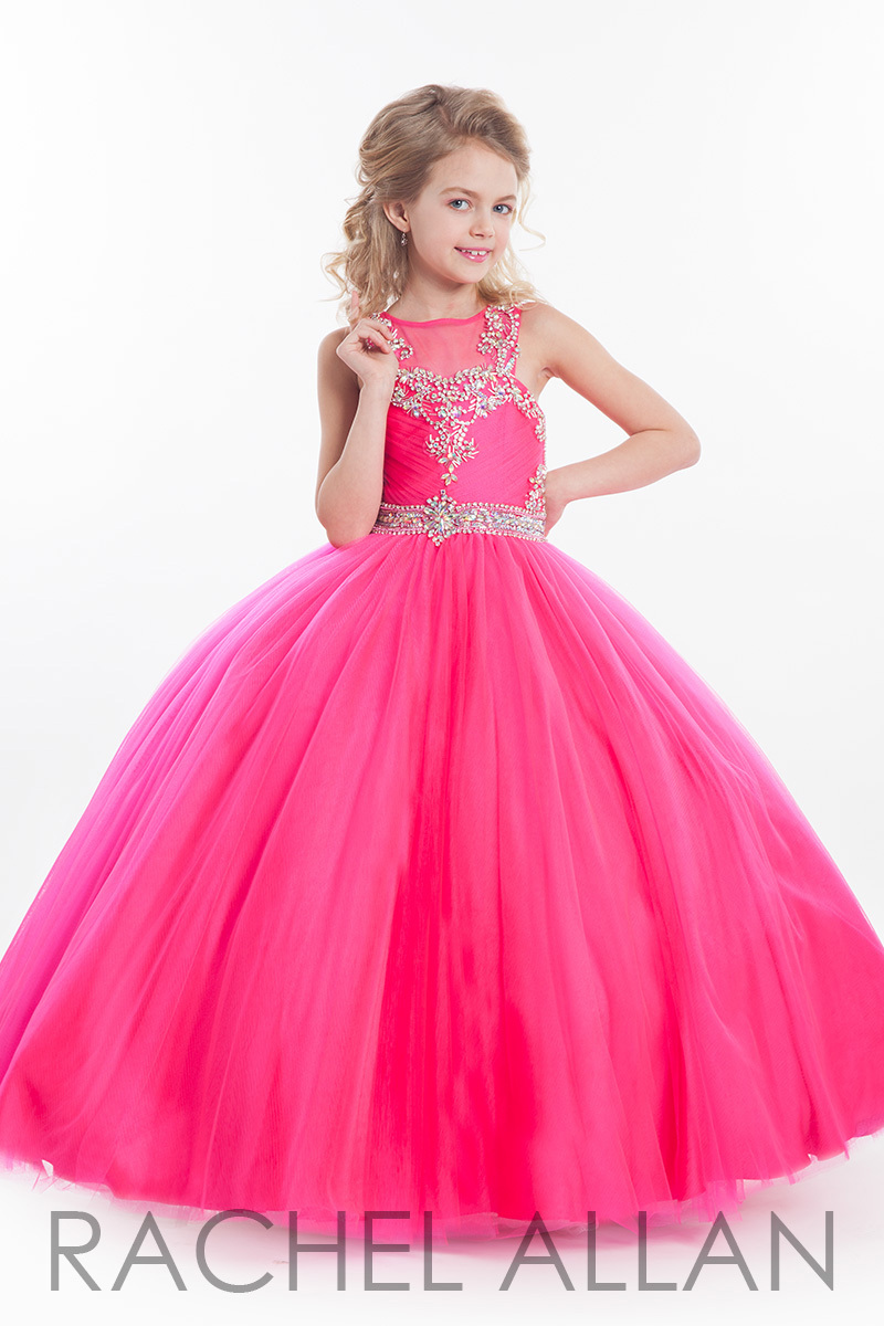 2017 Real Fuchsia Ball Gown Flower Girl Dresses For Weddings With ...