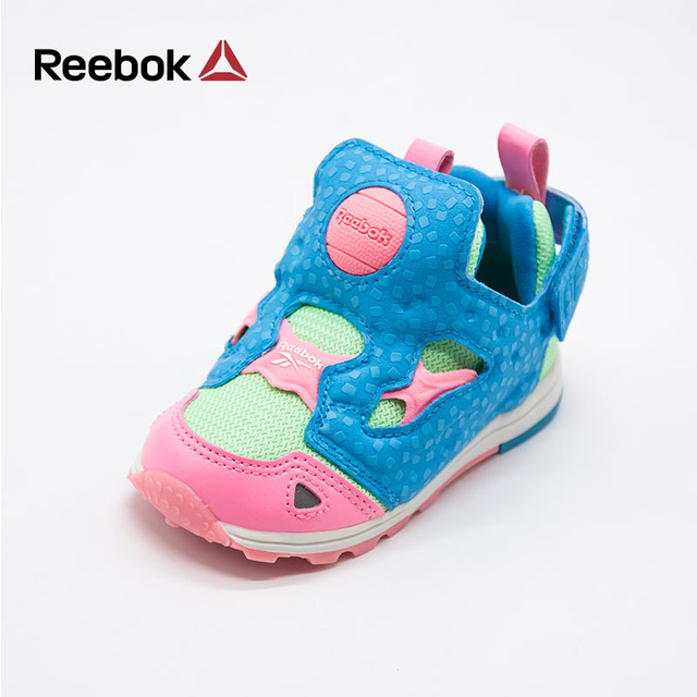 181a51daab6f REEBOK Kids Shoe Boy Girls Candy Colorful Cute Patchwork Slip On Baby  Toddlers Running Sport Casual Sneakers Children Brand Shoe