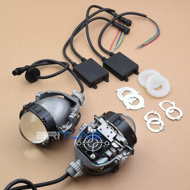 Auto Cars Bi-LED Projector Lenses H1 9005 9006 H4 H7 LED Lamps For Headlight Car-styling Retrofit Hi/Lo Beam Lens Accessories