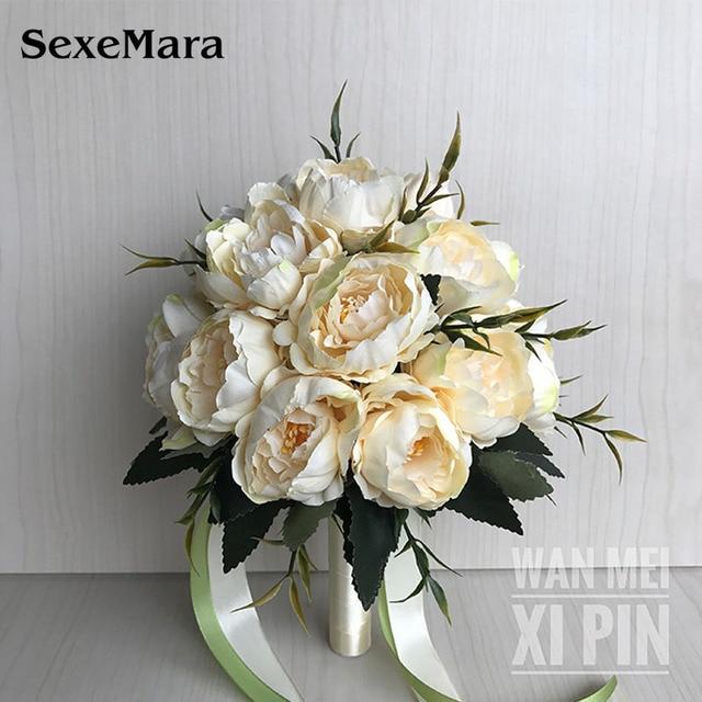 Wedding Bouquet Wedding Bouquet Handmade Artificial Flower Rose Bridal Bouquet wedding bride flower  flower girl wand