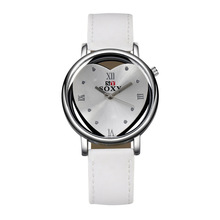 refined minimalist Harajuku heart shaped double sided hollow Korea creative personality fashion trend of students watches