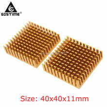 5 Pieces/Lot 40x40x11mm CPU IC Radiator Fins Aluminum Golden Cooler Heatsink Heatsinks цена