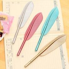 Купить онлайн 2 шт. перьев корейские милые перо ручка канцелярские личность нейтральная ручка оптовая продажа ретро творческая ручка