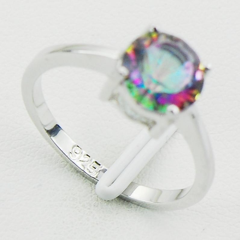 Concave Cut Радуга Mystic Crystal Zircon 925 Стерлинг - Сәндік зергерлік бұйымдар - фото 3