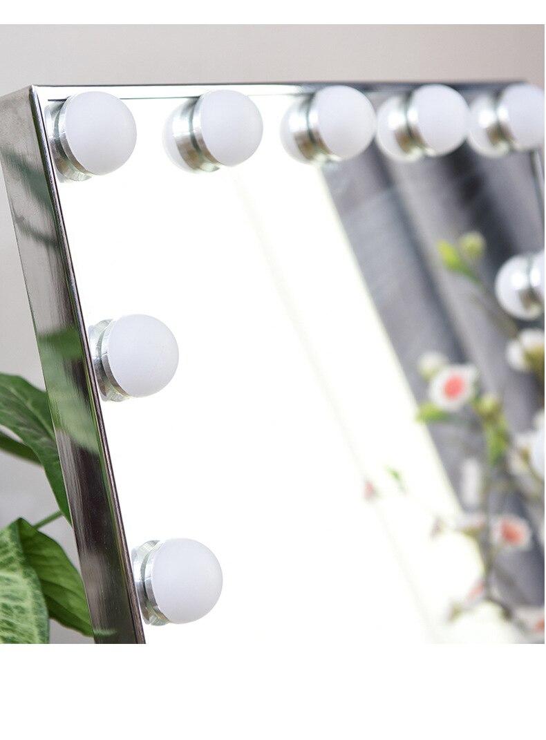Haut Pflege Werkzeuge Fein Einstellbare Eitelkeit Tabletop Lampe 20 Leds Beleuchtete Led Touchscreen Make-up Spiegel Tragbare Vergrößerungs Kosmetische Spiegel Werkzeug Letzter Stil