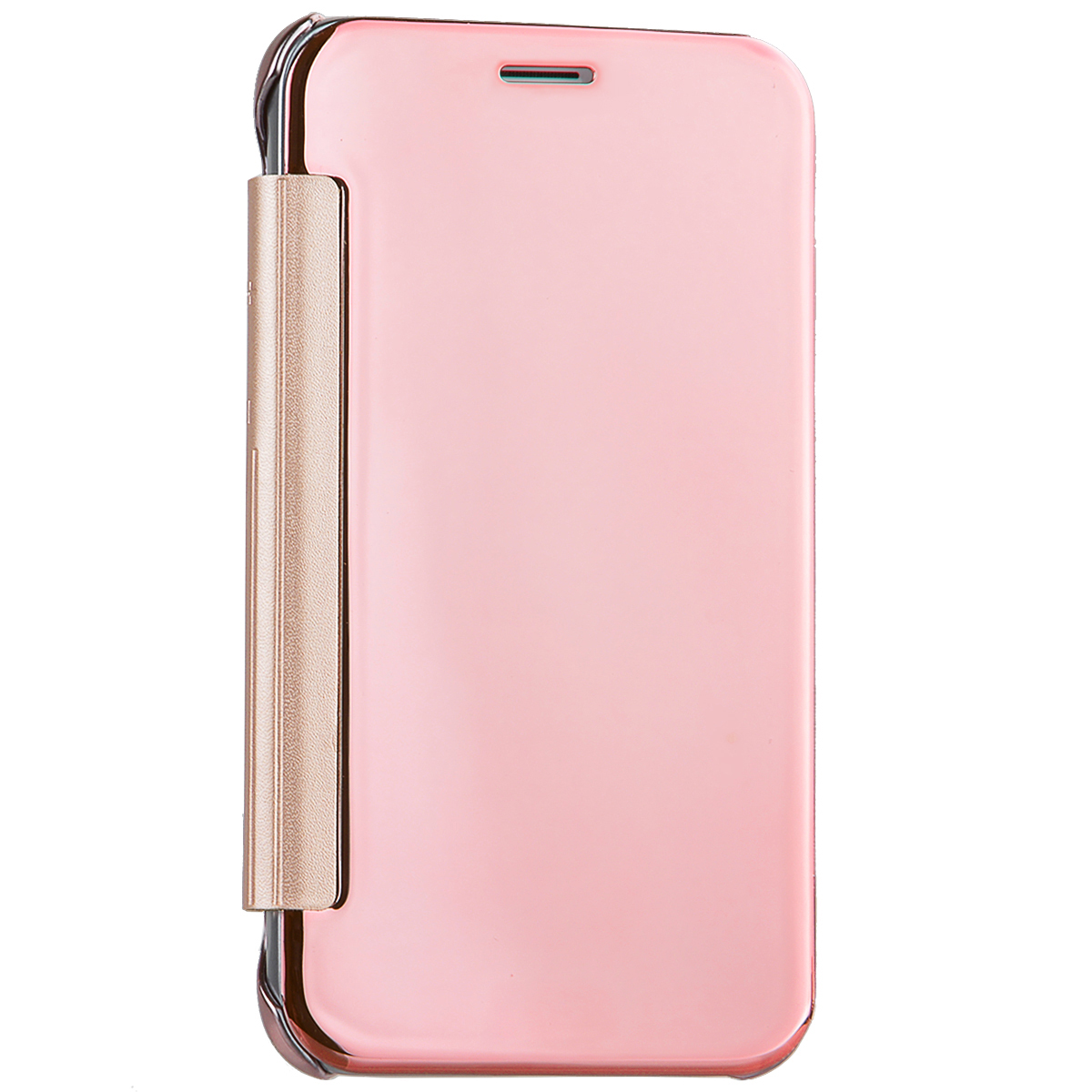 Yokata Luxury Mirror Rose Gold Flip Case para Samsung Galaxy S6 S7 Edge J1 J5 J7 A3 A5 2016 J710 Hard Phone Protect Cover