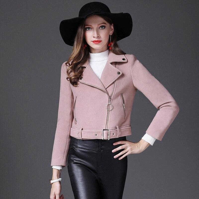 Новинка зимы короткая заметка шерстяной пиджак женский небольшой ладан тонкий дикий короткая куртка женская - 2