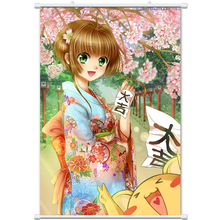 Anime Card Captor Sakura Printed Decor Wall Scroll Poster Cartoon Canvas Paint Animation Painting