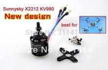 2 pçs/lote SunnySky X2212 KV980 Brushless Motor para avião RC melhor para Quadcopter Xcopter KK Copter nova marca + frete grátis