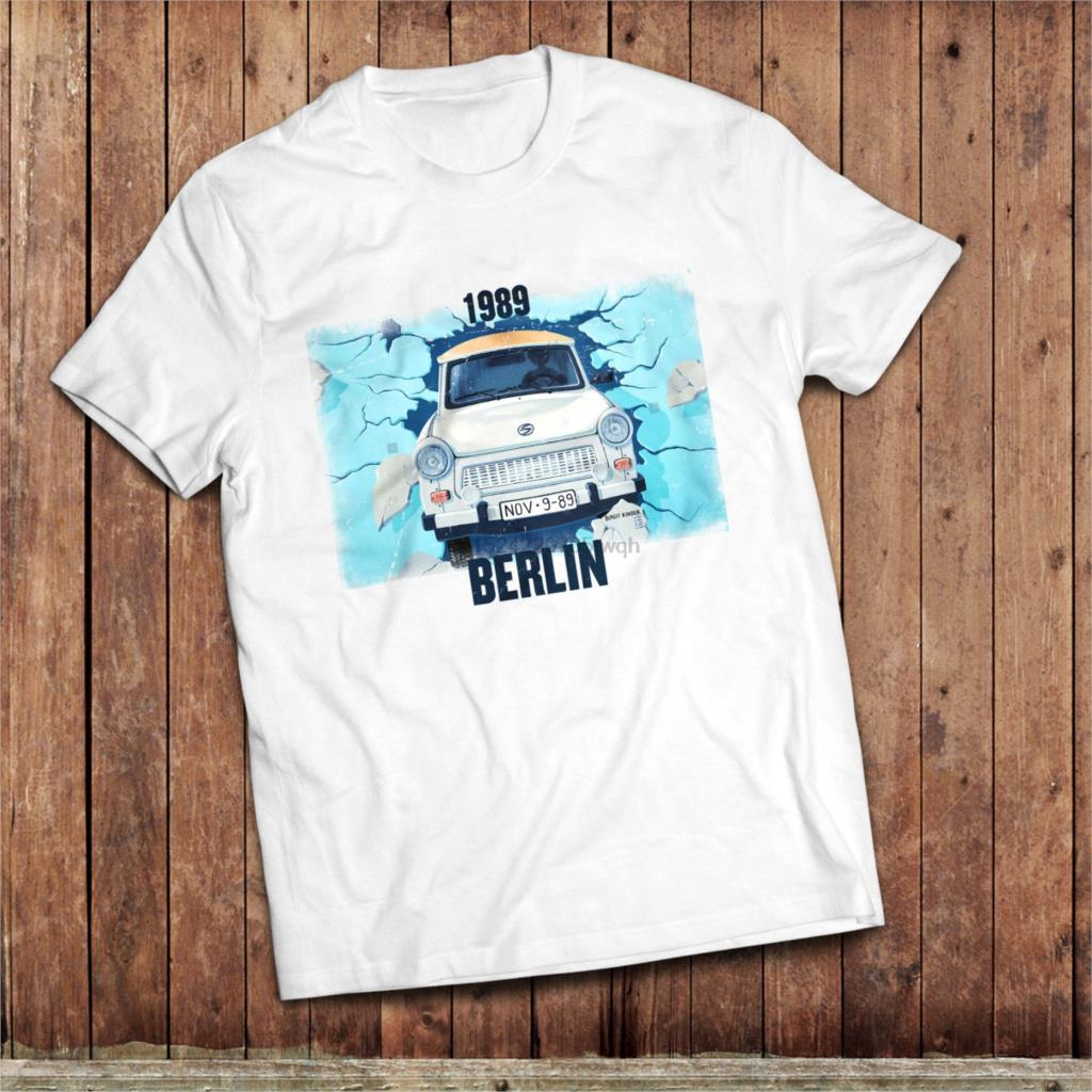 Germany Berlin Fridge Magnet Souvenir Berlino Trabant Car Decorative Nissan Figaro Fuse Box Lato Mczyni Koszulk Ciany T Shirt 1989 Upadek Klasyczne East Niemieckiego Samochodu