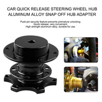 Portable Size Universal Car Quick Release Adapter Steering Wheel Hub Aluminum Alloy Quick Release Snap Off