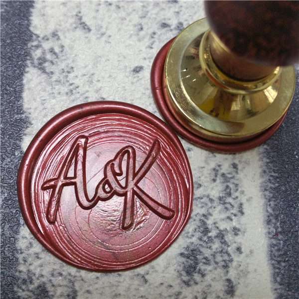 2 Initials Personalized Monogram Wax Seal Stamp Sealing Wedding Invitation Seals