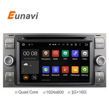 """7 """"en dash 2 din Android 5.1 Coches Reproductor de DVD de Cuatro Núcleos GPS de Navegación OBD2 para Ford Focus C-max Fiesta Fusión Mondeo Kuga"""