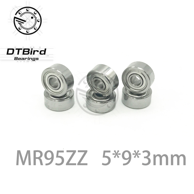 Free Shipping 20 PCS MR95ZZ Bearings 5x9x3 mm Miniature Ball Bearings L-950ZZ mr95z mr95 zz mr952z free shipping 10 pcs 684zz 684z 684 bearings 4x9x4 mm miniature ball bearings l 940zz abec5