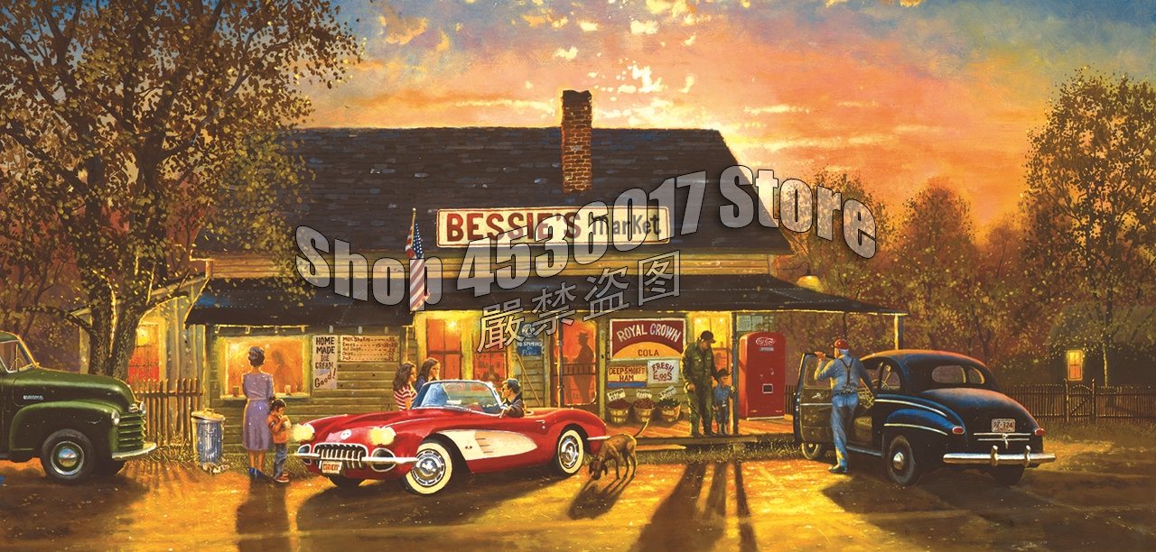 5D DIY Diamond Painting Hometown Hero Cars Vintage Christmas Gift Full Square Diamond Embroidery Cross Stitch Mosaic Home Decor in Diamond Painting Cross Stitch from Home Garden