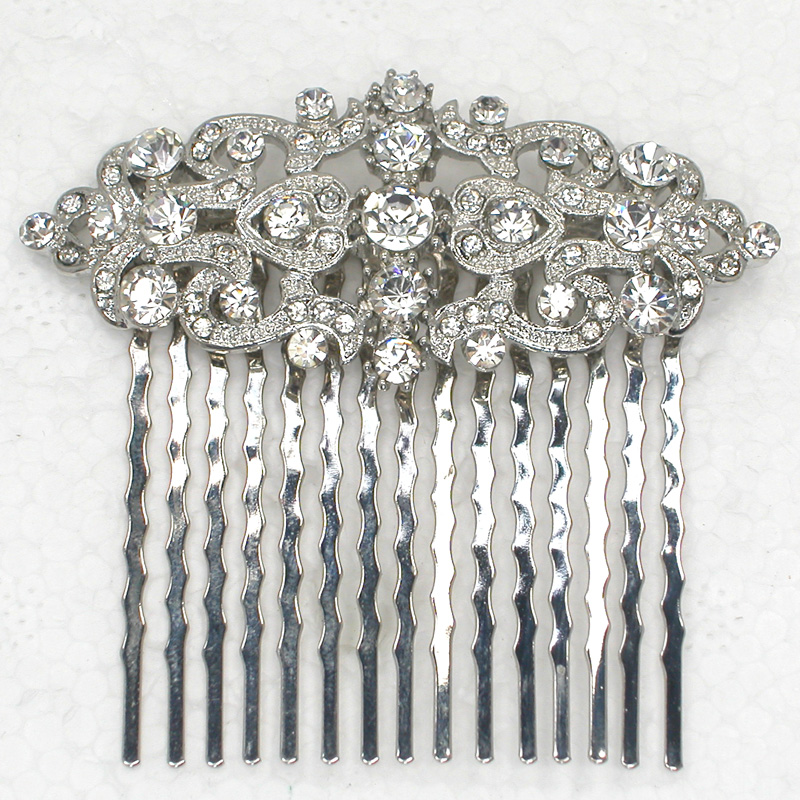 12pcs lot Wholesale Crystal Rhinestone Flower Hair Comb for Bridal Wedding party Prom L101058