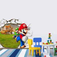 DIY regalo SUPER MARIO BROS gran avance pared 3D pared pegatinas calcomanía decoración B100