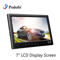 Podofo Car Monitor 7 Rear View Monitor Dashboard Display Screen LCD DVD /TV Rearview Parking System Monitors for Cars/Bus/Truck