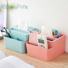 Desktop Small Object Remote Control Tissue Box Creative PP Plastic Multi-function Office Living Room Storage