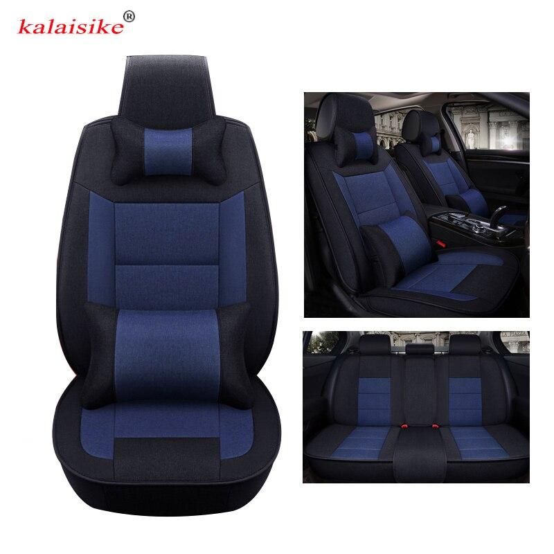 Kalaisike Flax Universal Car Seat cover for Lifan all model 320 330 520 X60 X50 720 620 630 530 820 620EV car styling accessorie ортопедические авточехлы other brands sceo 320 330 530 520 620 630 720 x60x50