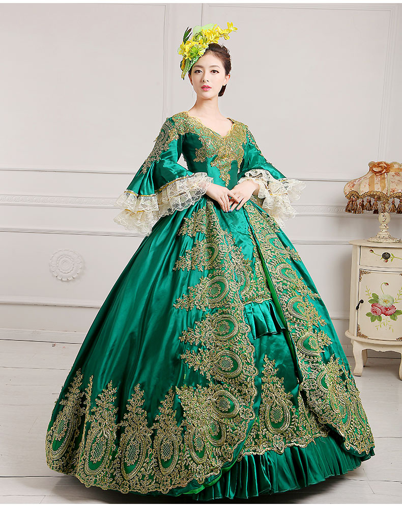 2016 European Court Dress 18th Century Queen Victorian Dresses Ball ...