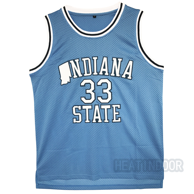 61dceef5456 HEATINDOOR Mens Indiana State Sycamores Larry Bird #33 Blue Basketball  Jerseys Embroidery Logos New Materials New jersey