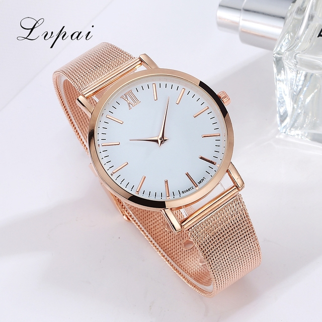 Lvpai Brand 2017 Luxury Women Gold Watch Fashion Bracelet Dress Watch Quartz Wristwatch Ladies Casual Sport Business Watch 2