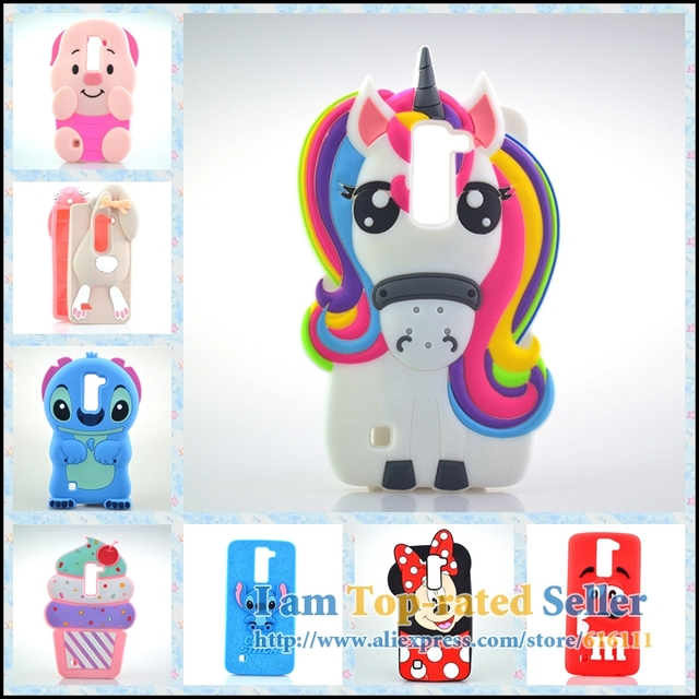 295abbcc676 Para LG K8 caso unicornio conejo Minnie cerdo del helado celular Fundas  para móviles Tapas teléfono